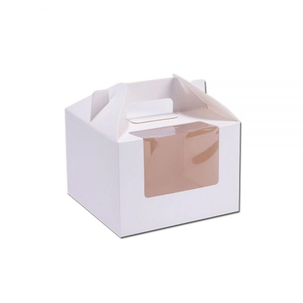 Window Paper Cake Box with Handle
